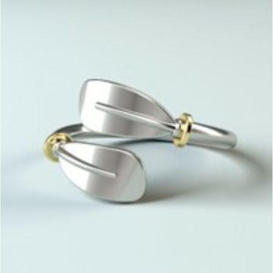 Ezüst kajaklapát gyűrű