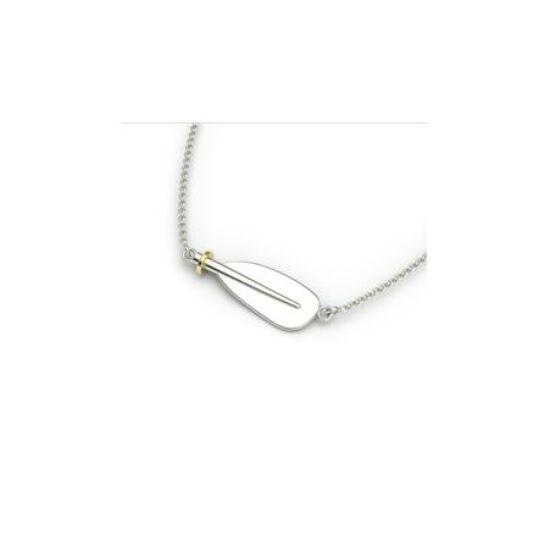 Silver Kayak Paddle Blade Necklace