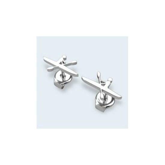Silver Kayaker Earring