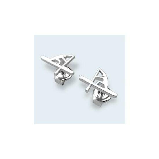Silver Canoer Earring