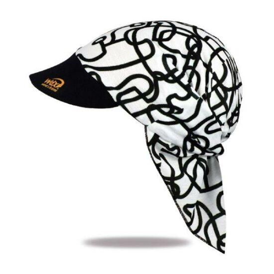 Black and white peak kerchief